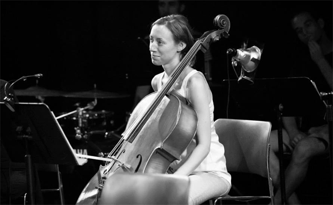 Rachel Smith playing cello