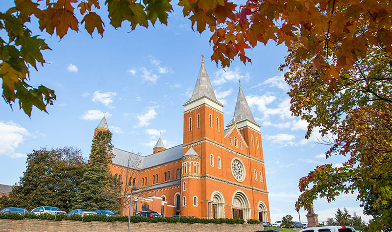 Saint Vincent Archabbey Basilica in fall